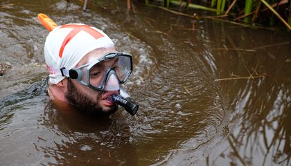 Swimming Through Mud at the World Bog Snorkeling Championships