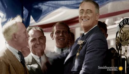 Rare Footage of FDR Walking With Leg Braces