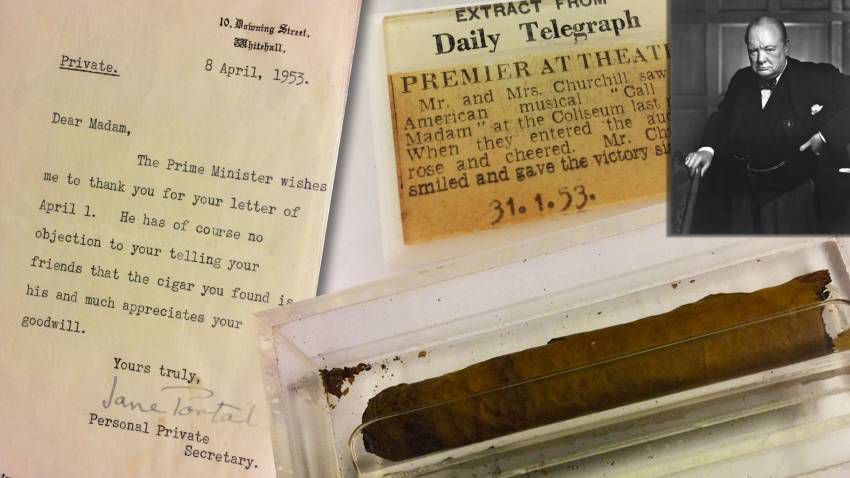 A Cigar Puffed by Winston Churchill Is Set to Go on Auction