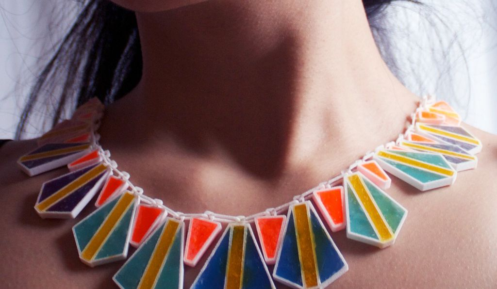 Geometric, colorful and chunky, Lily Su's fashion pieces are made of soap.