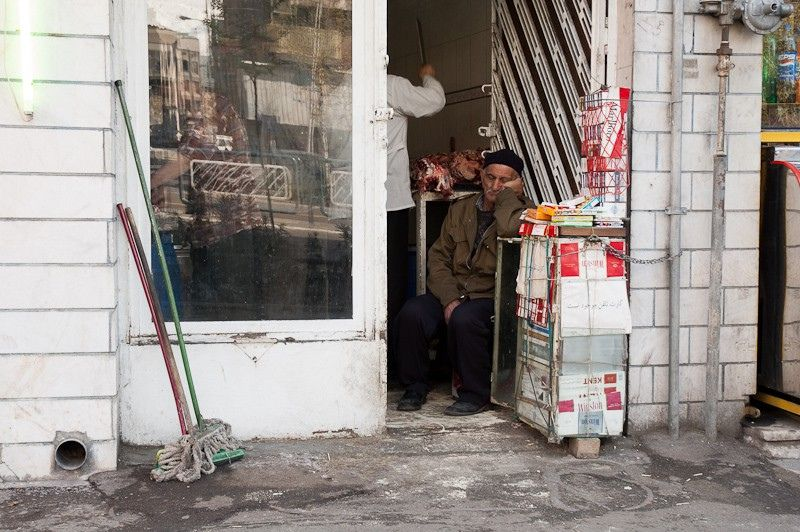 Cigarette Seller in Iran