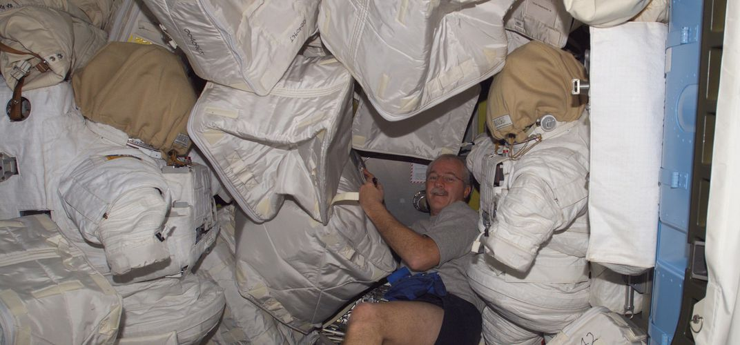 Caption: Trash Day on the Space Station