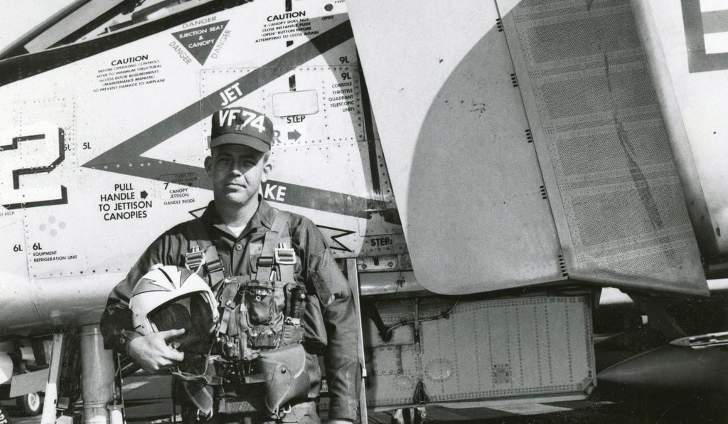 In a memorable cold war encounter, the author (with his F-4B Phantom on the deck of the <i>Forrestal</i>) flew uncomfortably close to a Soviet bomber.
