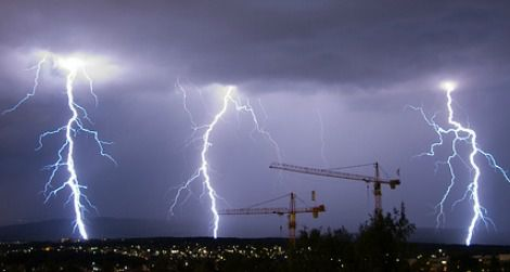 Nasty weather over Oslo, Norway