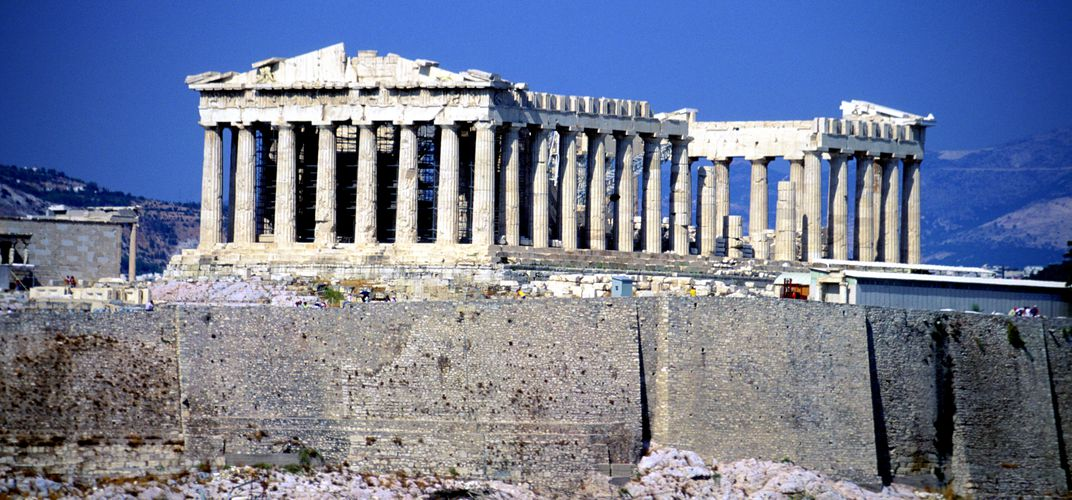 The incomparable Parthenon atop the Acropolis in Athens