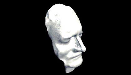 Isaac Newton's Death Mask: Now Available in Digital 3D