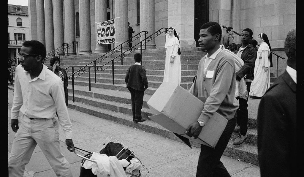 In the aftermath of the uprising after the assasination of Dr. Martin Luther King, Jr., a D.C. church established an emergency food distribution center for residents