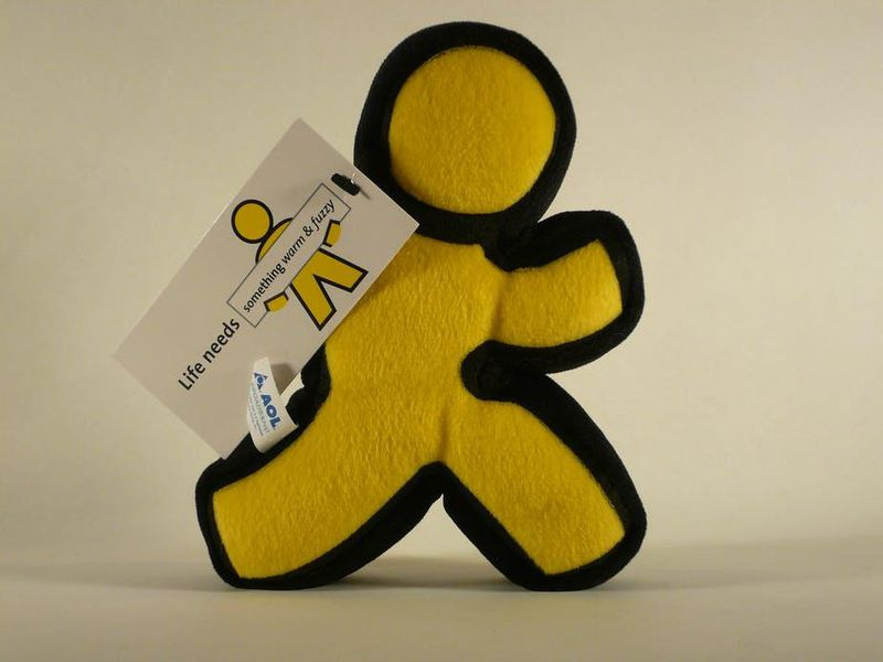 The AOL Instant Messenger icon became so well known it was made into a plush toy.