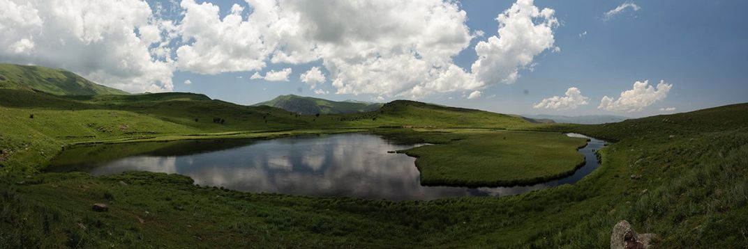 A small lake in the middle of Vayots Dzor mountain ranges