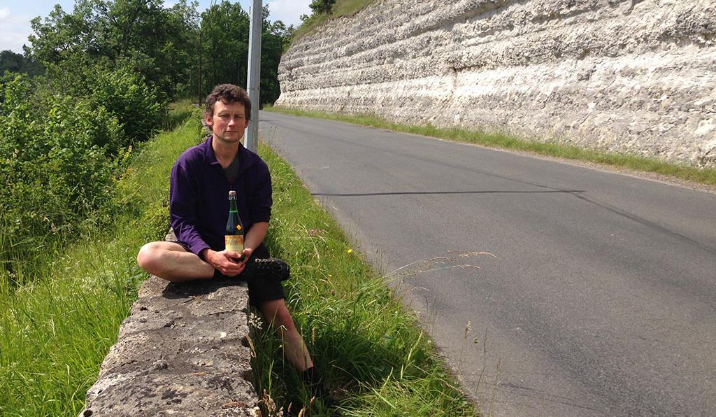 A bottle of dry Normandy apple cider awaits you on highway D703 outside Le Bugue.