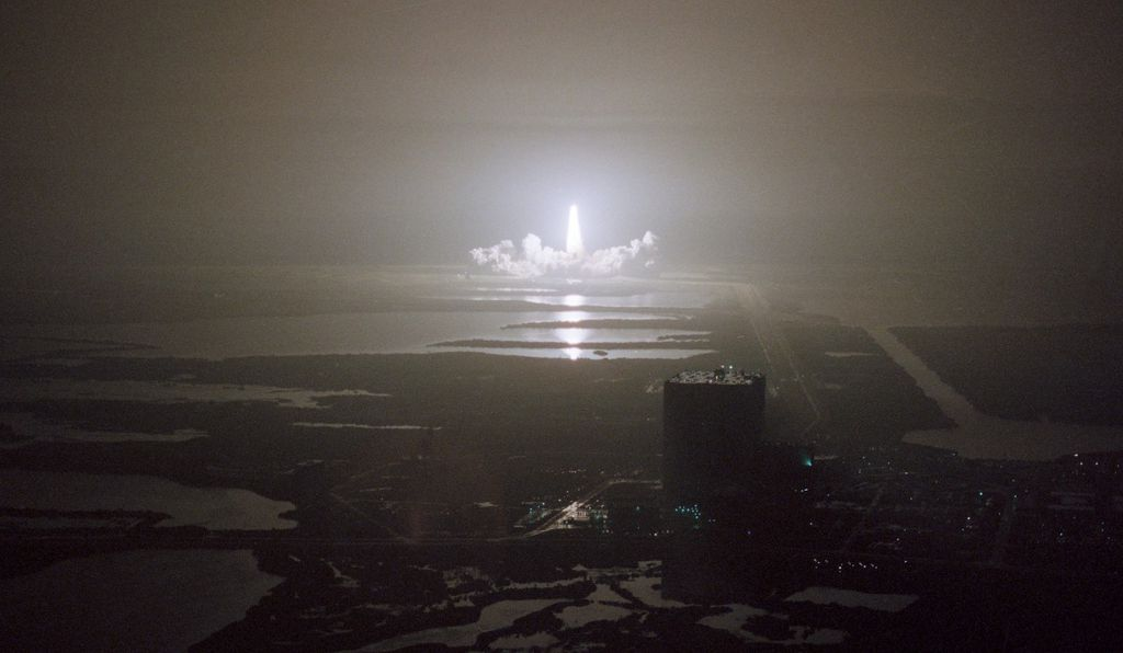 Night launch of STS-8, August 1983.
