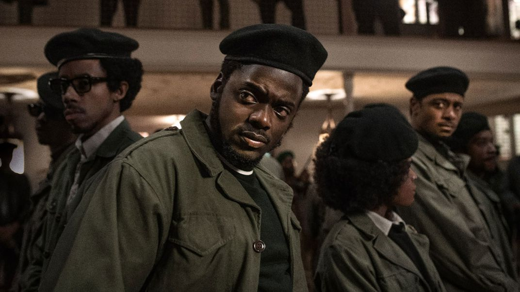 Daniel Kaluuya (center) as Fred Hampton
