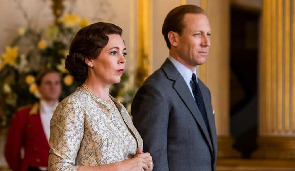 Olivia Colman and Tobias Menzies portray Queen Elizabeth II and Prince Philip