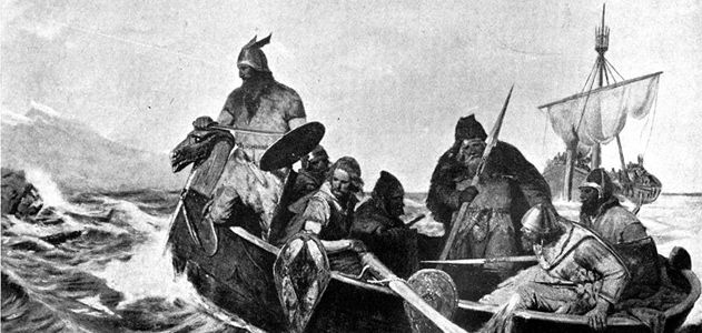 vikings landing in Iceland