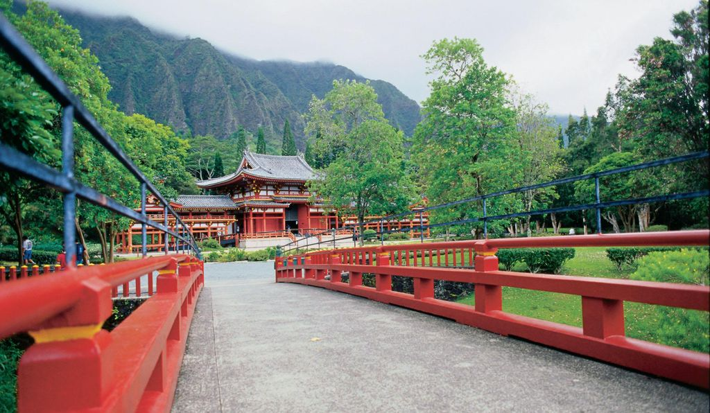 Byodo-In Temple in the Valley of the Temples.