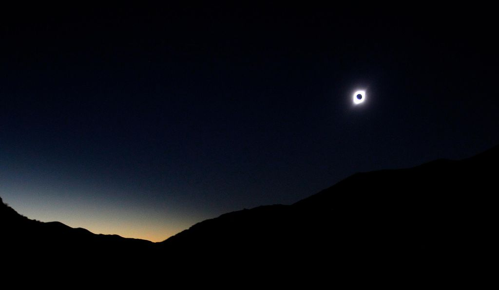 Solar eclipse from Paiguano, Chile.