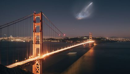 Image: Satellite launch lights up social media