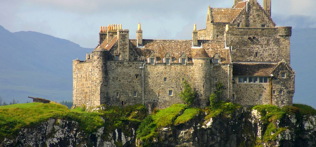Duart Castle, located on the Isle of Mull