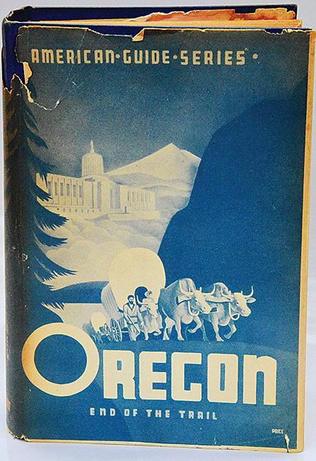 A first edition of the WPA guide to Oregon (1940).