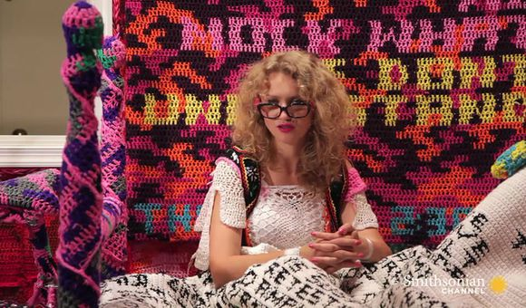 Preview thumbnail for video'Crocheted Olek's Crocheted Apartment