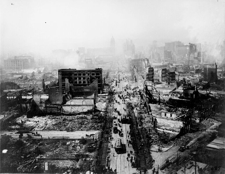 San Francisco earthquake and fire                           aftermath