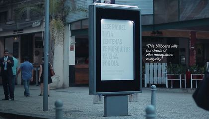"This ""Sweaty"" Billboard Kills Mosquitoes"