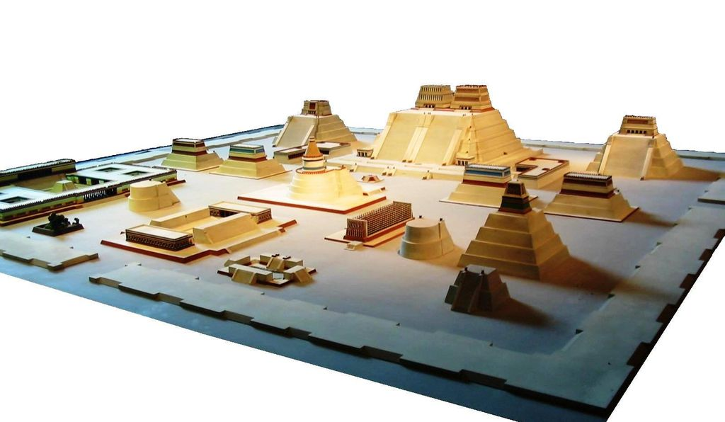 A model of the Templo Mayor complex
