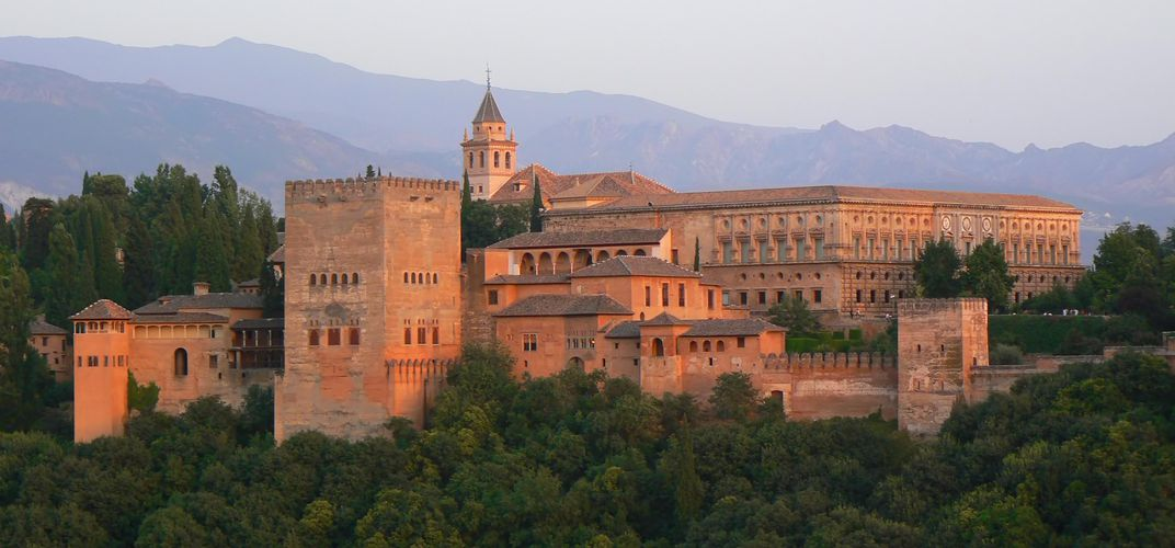 The Alhambra of Granada, Spain.