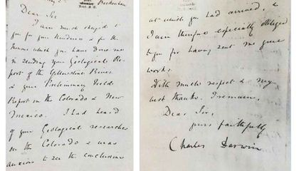 A Letter Written by Charles Darwin, Twice Stolen, Returns to the Smithsonian