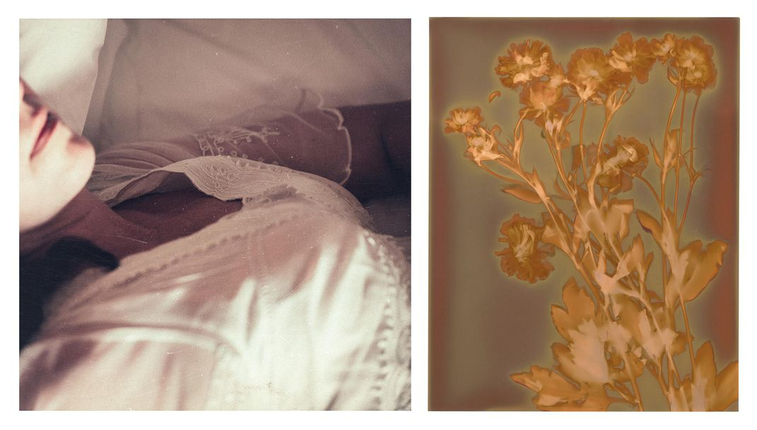 Bodice and Flowers diptych