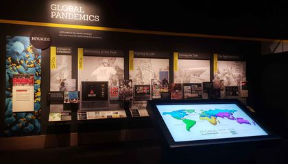 View of Outbreak exhibition