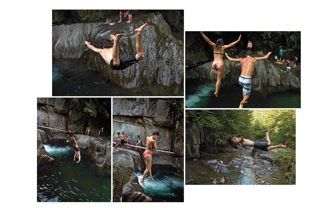 Warren Falls collage