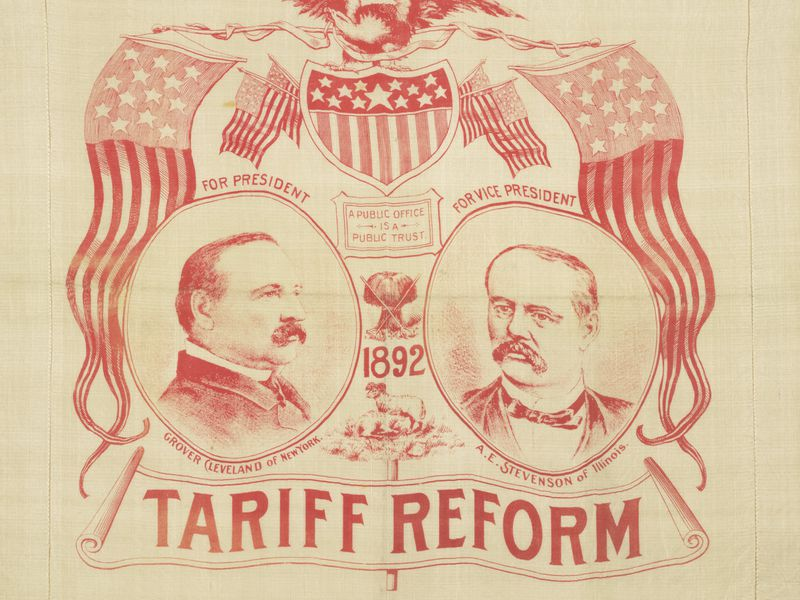 Grover Cleveland Tariff Campaign Poster
