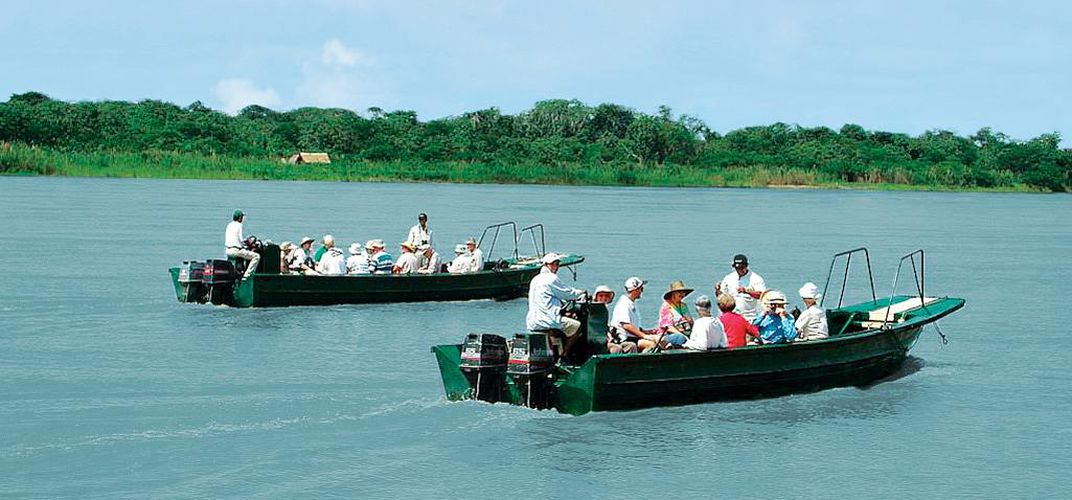 Excursion boats on the Amazon