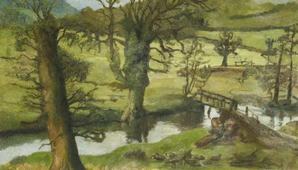 Rare Landscape Attributed to Lucian Freud Discovered Underneath Another Work