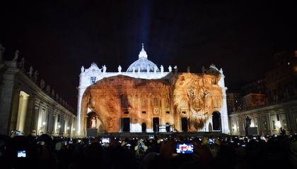See the Vatican Light Up With Images Warning Against Climate Change