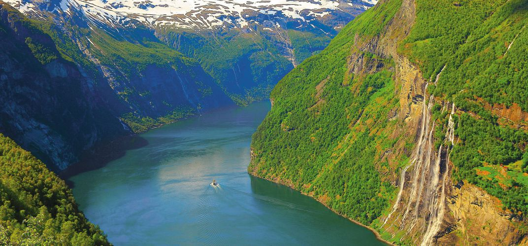 The World Heritage site of Geirangerfjord