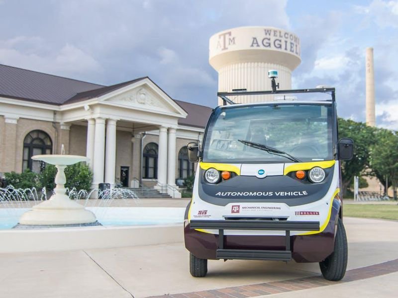A self-driving shuttle at Texas A&M