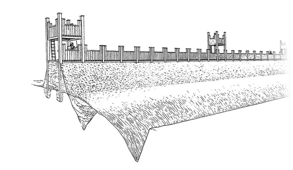Artist's rendering of the Exeter fort