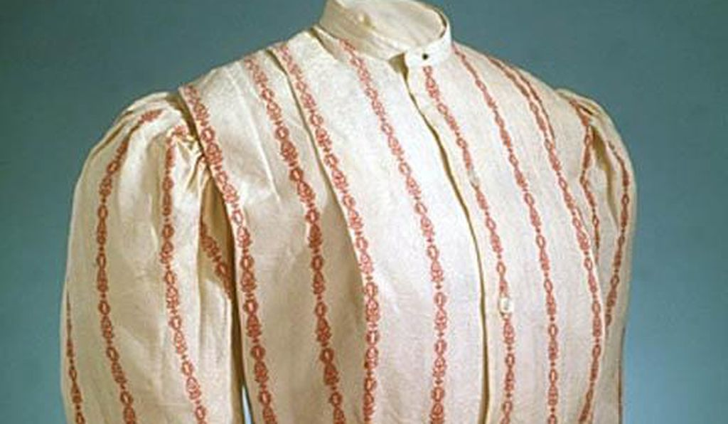 Shirtwaists, tailored blouses of the 1890s and early 1900s,  became especially popular with working-class women because, unlike a full dress, they were easy to clean and offered freedom of movement.