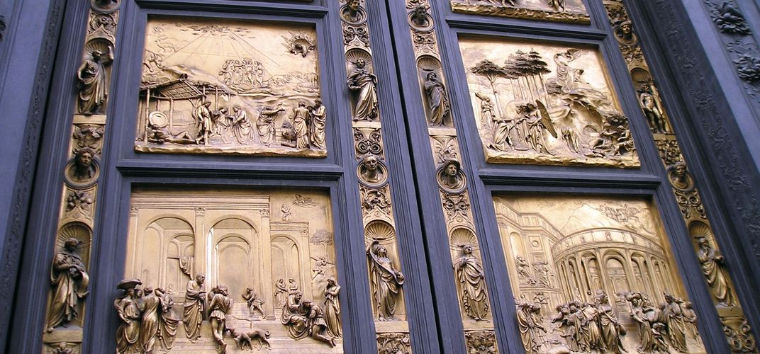 Doors by Ghiberti at the Baptistery in Florence