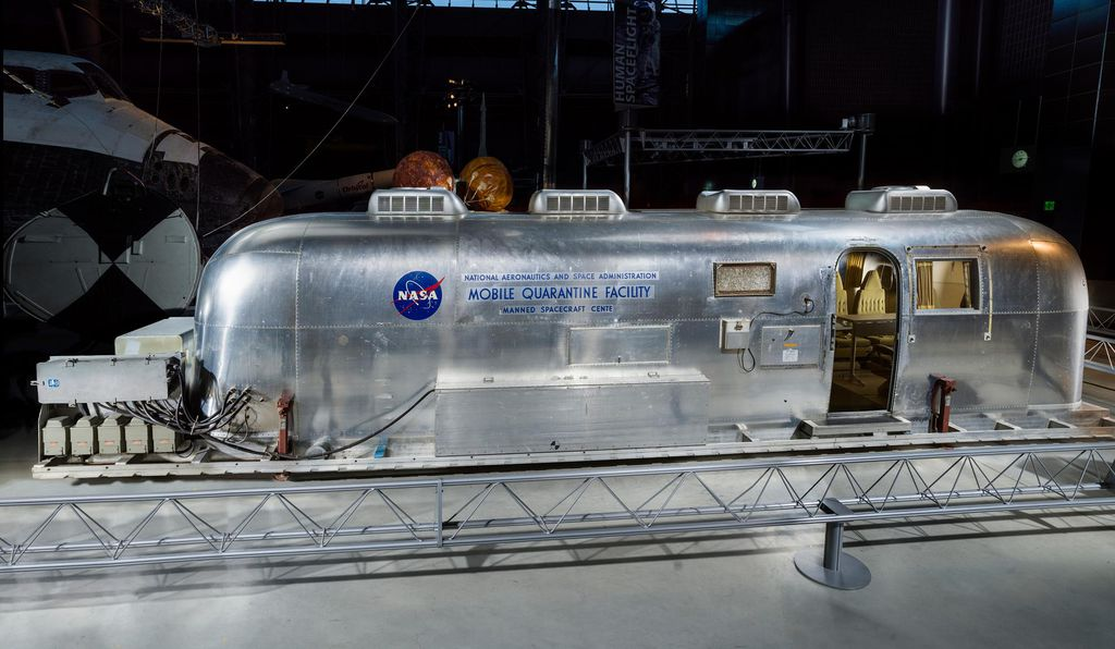 Equipped with elaborate air ventilation and filtration systems, the Mobile Quarantine Facility was used by Apollo 11 astronauts Neil Armstrong, Buzz Aldrin and Michael Collins.