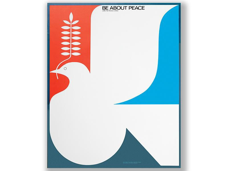 A vintage Peace Corps poster