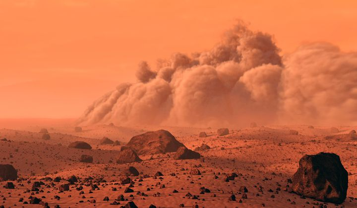 Dust Storms on Mars Kick Up Mini Sparks