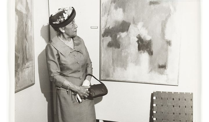 Alma Thomas, ca. 1958 / unidentified photographer. Alma Thomas papers, 1894-2000, bulk 1936-1982. Archives of American Art, Smithsonian Institution.