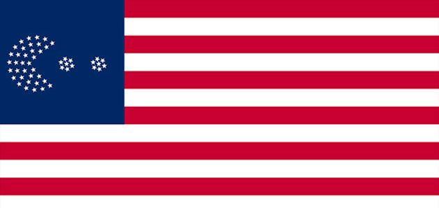 One suggested design for the 51-star American flag