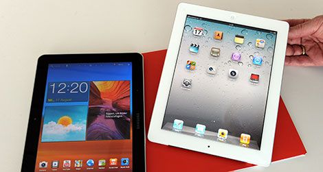 Apple accused Samsung of copying their tablet design.