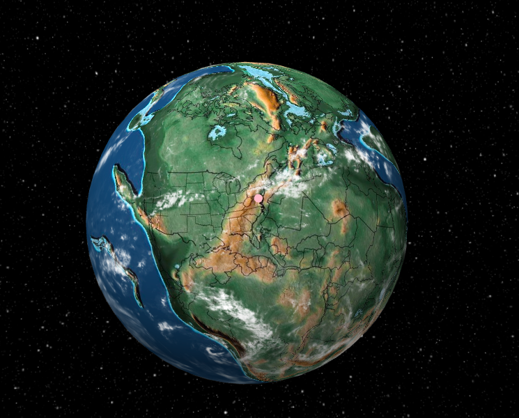 This map lets you plug in your address to see how it's changed over the past 750 million years