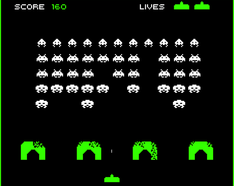 Image result for original space invaders game