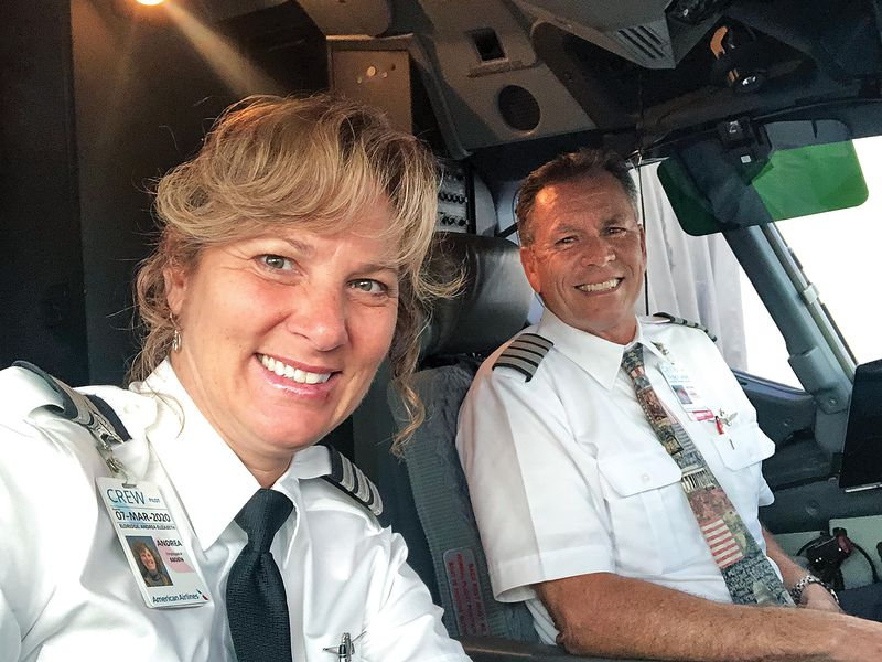 Andrea and Kevin Eldridge in the cockpit